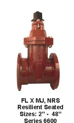 AWWA Resilient Seated Valves: AWWA Flange by Mechanical Joint, NRS, Series 6600