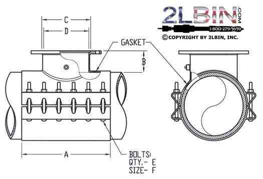 """"""" 412 Fabricated Steel Tapping Sleeve"""